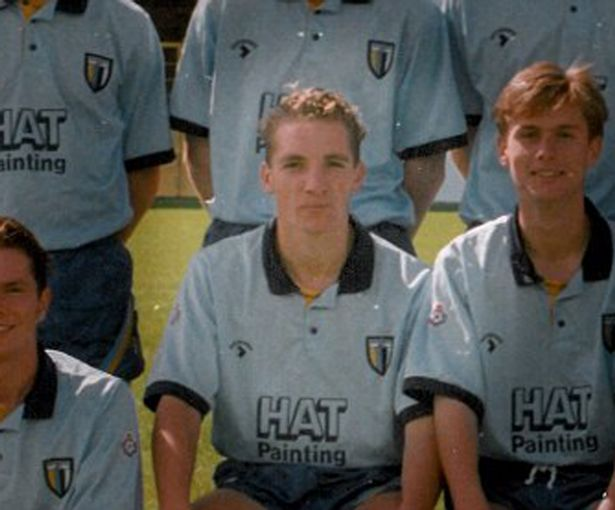 Brendan Rodgers as a fresh faced young defender at Reading