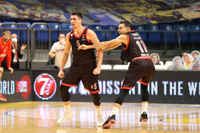 Kostas Sloukas celebrates - Olympiacos Piraeus - EB20